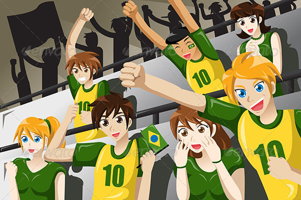GraphicRiver Soccer Fans in a Stadium 7925769
