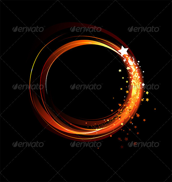 GraphicRiver Round Fiery Banner 7925798