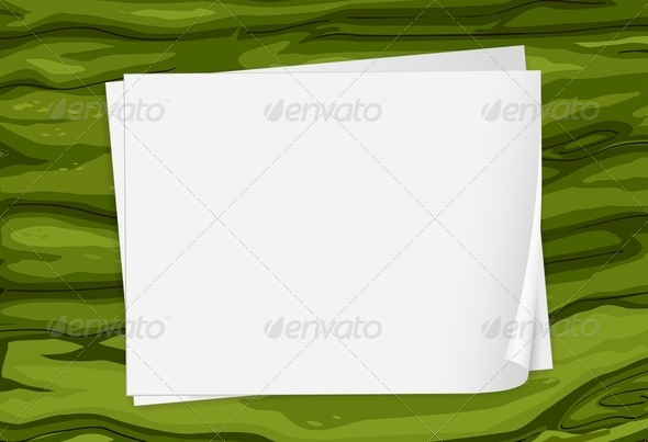 GraphicRiver Green Surface with Papers 7925799