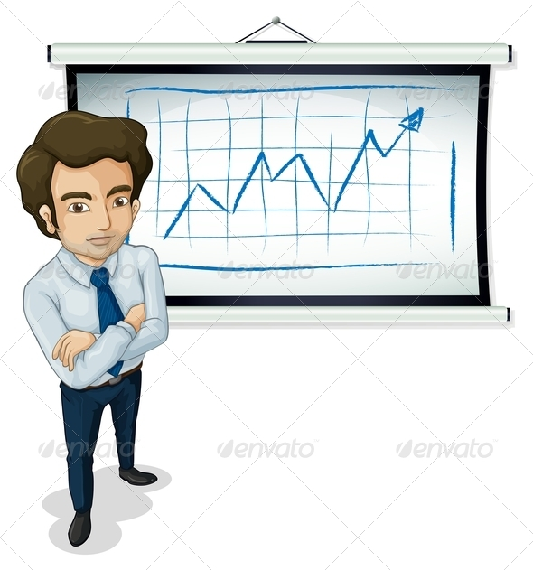 GraphicRiver Businessman With Chart 7925819