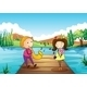 Serenading His Girlfriend at the River - GraphicRiver Item for Sale