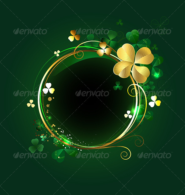 GraphicRiver Round Banner with Clover 7925923