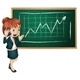 Business Woman with Phone and Chart - GraphicRiver Item for Sale