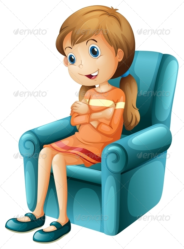 GraphicRiver Girl in Chair 7925935