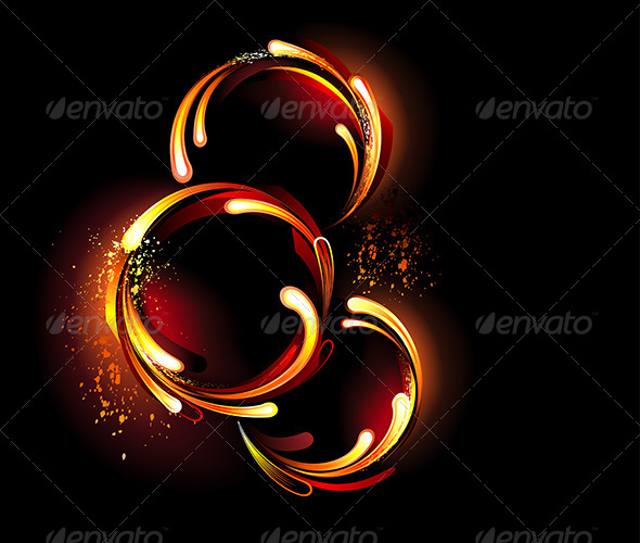 GraphicRiver Three Round Fiery Banners 7925949