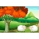 Two Sheep Under a Tree - GraphicRiver Item for Sale