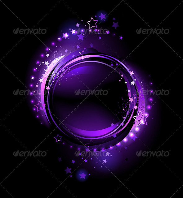 GraphicRiver Purple Round Banner 7925959