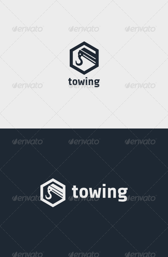 Towing Logo - Objects Logo Templates