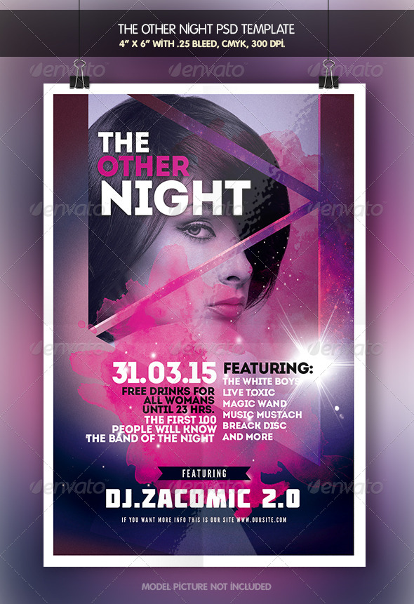GraphicRiver Other Night Flyer Template 7908921