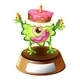 Monster on Trophy Stand with Cake - GraphicRiver Item for Sale