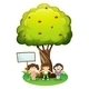 Kids Under Tree with a Sign - GraphicRiver Item for Sale