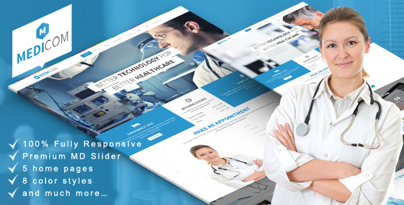 Medicom - Medical & Health Drupal Ubercart Theme - Health & Beauty Retail