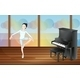 Ballet Dancer in Studio with Piano - GraphicRiver Item for Sale