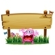 Scared Monster under a Wooden Signboard - GraphicRiver Item for Sale
