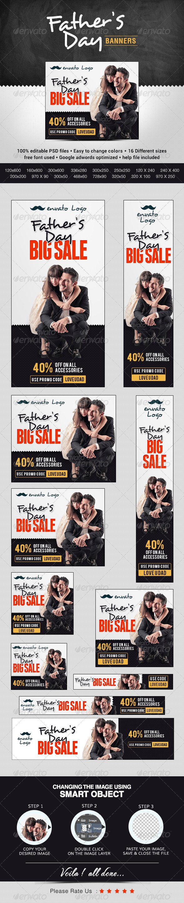 GraphicRiver Father s Day Banners 7926213