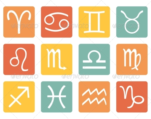 GraphicRiver Set of Zodiac Signs 7926313