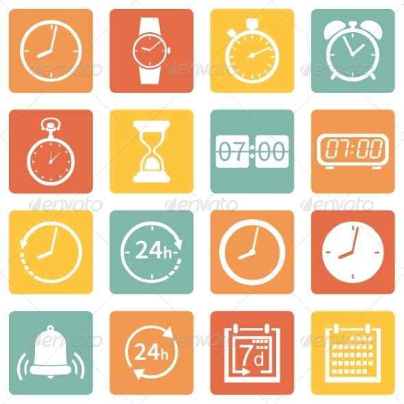 GraphicRiver Set of Time Icons 7926318