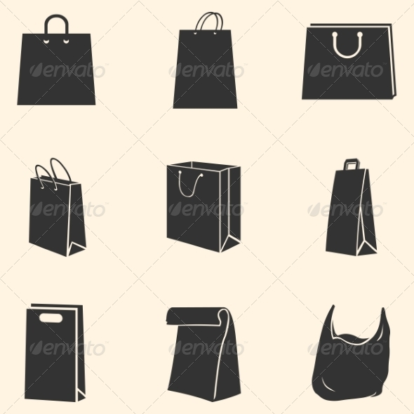 GraphicRiver Set of Shopping Bags Icons 7926390