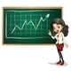 Lady Reporting on Chart - GraphicRiver Item for Sale