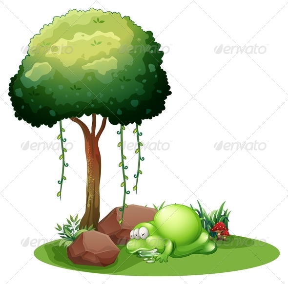 GraphicRiver Monster Sleeping Under Tree 7926486
