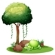 Monster Sleeping Under Tree - GraphicRiver Item for Sale