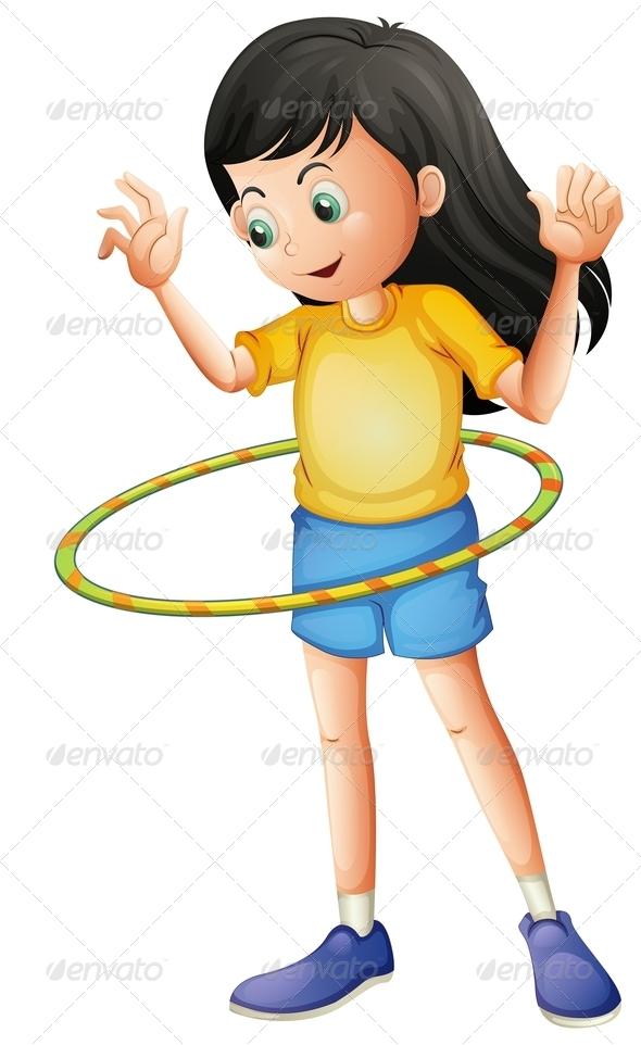 GraphicRiver Girl playing Hulahoop 7926618