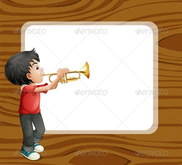 GraphicRiver Boy Playing with his Trombone 7926650