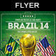 Soccer Brazil 14 | Match Flyer - GraphicRiver Item for Sale