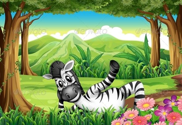 GraphicRiver Zebra in a Forest 7926762