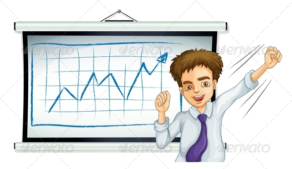 GraphicRiver Businessman in front of Graph 7926763