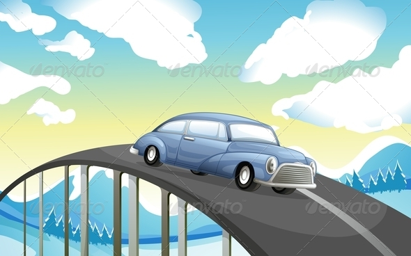 GraphicRiver Car on the Road 7927062