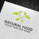 Natural Food Logo Template - GraphicRiver Item for Sale
