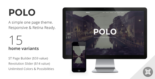 ThemeForest POLO Simple & Elegant One Page Joomla Template 7927093