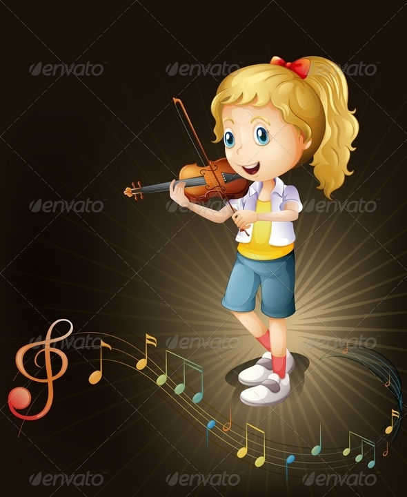 GraphicRiver Girl Playing Violin 7927110