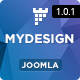 MYDesign :: Onepage Flat Joomla! Template - ThemeForest Item for Sale