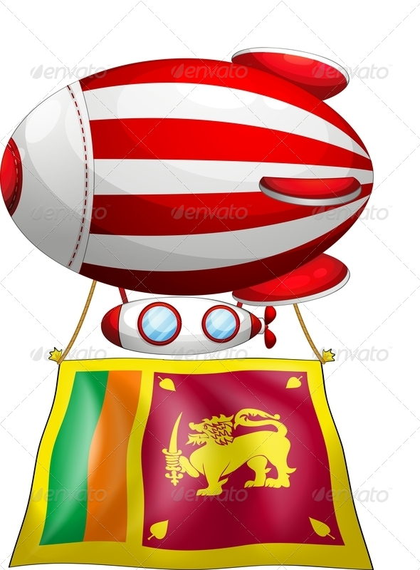 Balloon with Srilanka Flag
