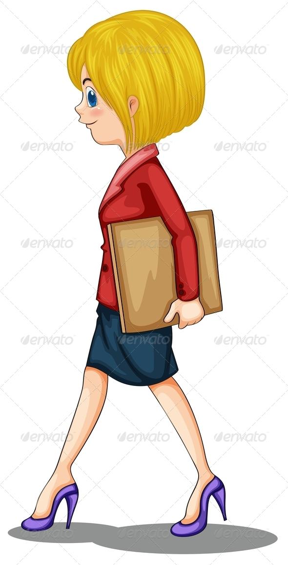 GraphicRiver Businesswoman Walking 7927526