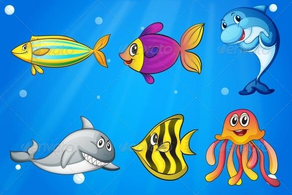 GraphicRiver Under the Sea Animals 7927536