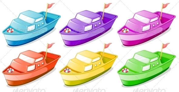 GraphicRiver Six Colorful Boats 7927537