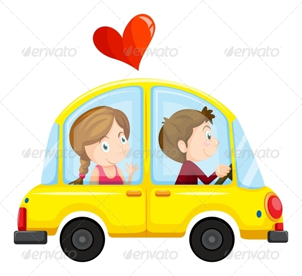 GraphicRiver Couple in a Car 7927585
