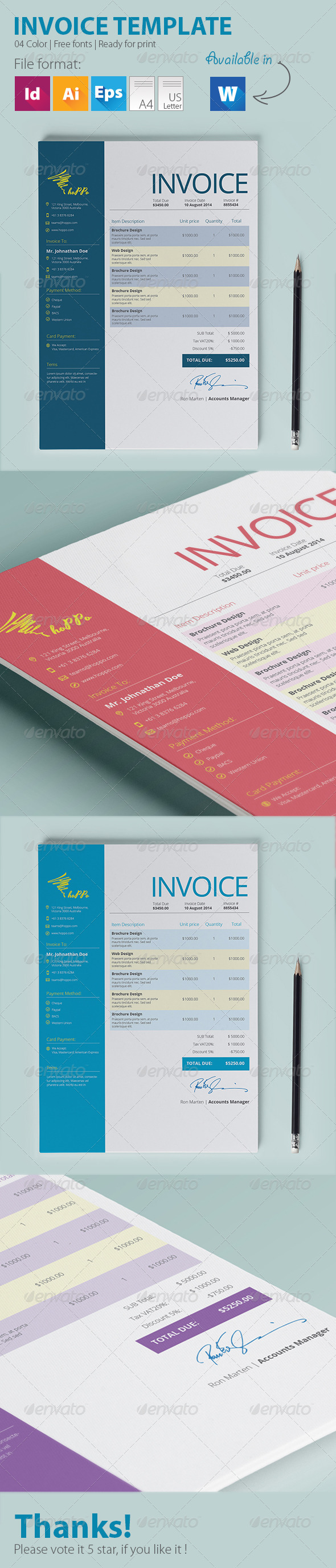 GraphicRiver Invoice Template 7920769