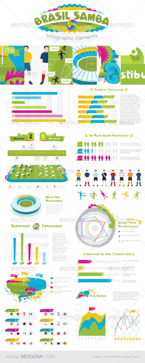 Brasil Samba Infographic Elements
