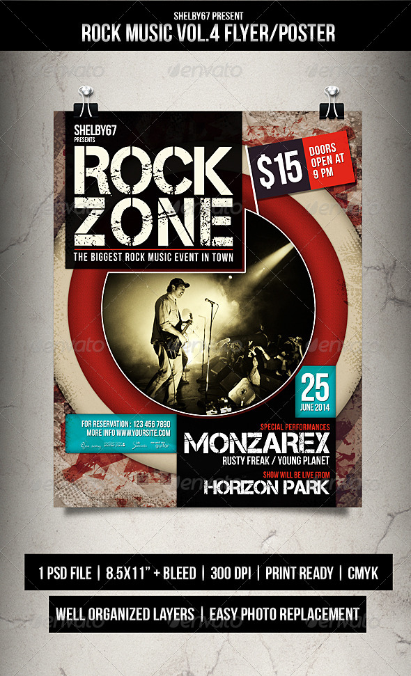GraphicRiver Rock Music Flyer Poster Vol.4 7927731
