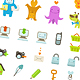48 Ultra Cute Vector icons - GraphicRiver Item for Sale