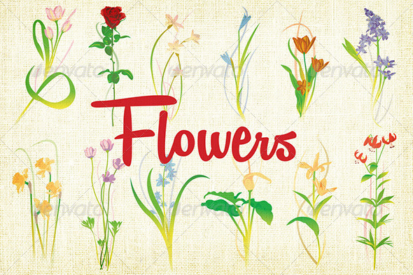 GraphicRiver Simple Flower Illustrations 7928250