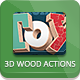 3D Wood Actions - GraphicRiver Item for Sale