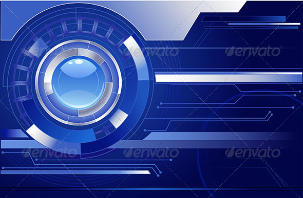 GraphicRiver Blue Background with a Blue Lens 7928450