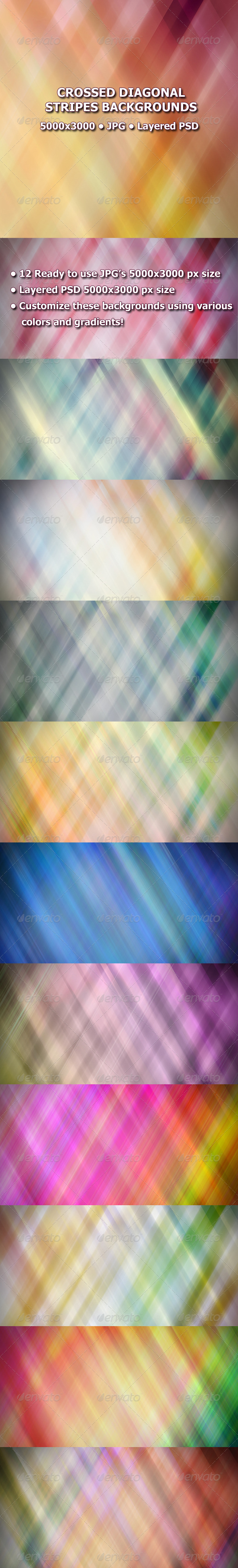 GraphicRiver Crosses Diagonal Stripes Backgrounds 7928526