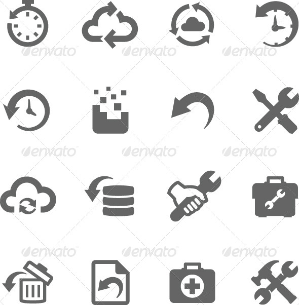 GraphicRiver Recovery and Repair Icons 7928553