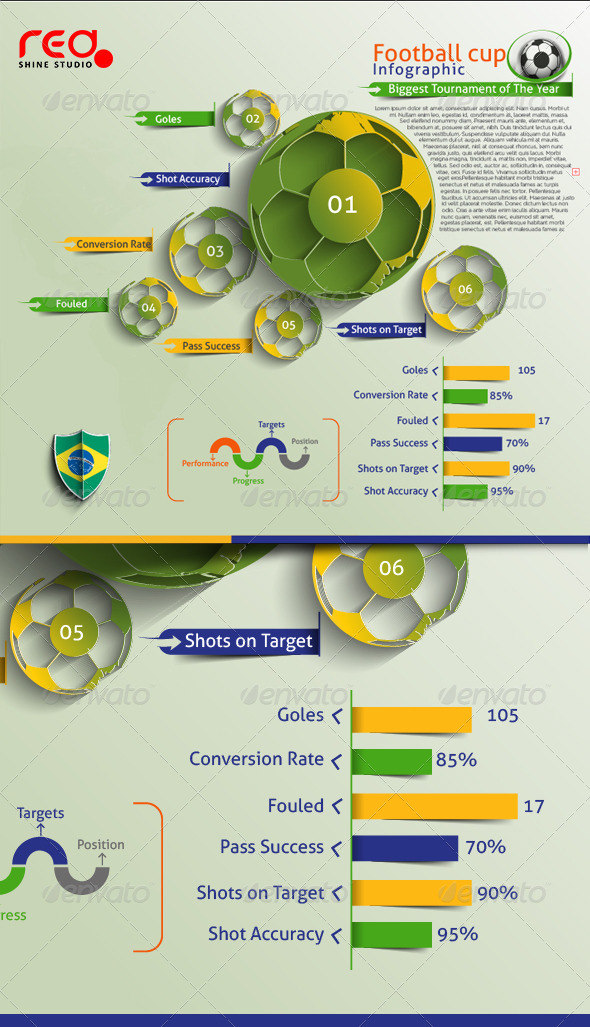 GraphicRiver FootBall Cup Infographic 7928591